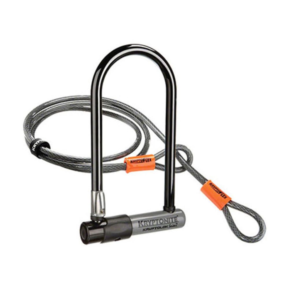 KRYPTONITE KryptoLok Series 2 U-Lock w/ 4' Cable - BLACK