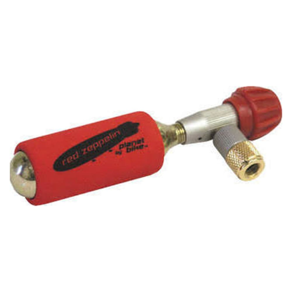 PLANET BIKE Red Zeppelin Inflator with Two 16 g Cartridges - NONE