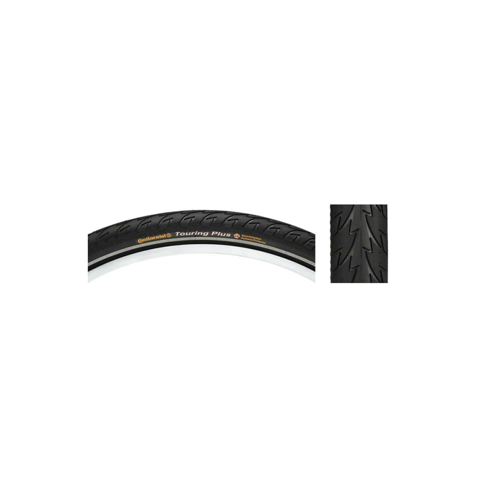 CONTINENTAL Touring Plus Mountain Bike Tire, 26 x 1.75 in. NO SIZE