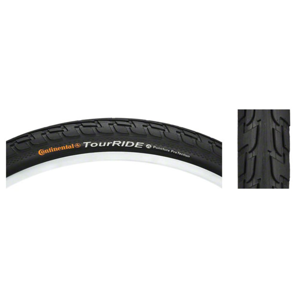 CONTINENTAL Touring Ride Road Bike Tire, 700 x 37c - BLACK