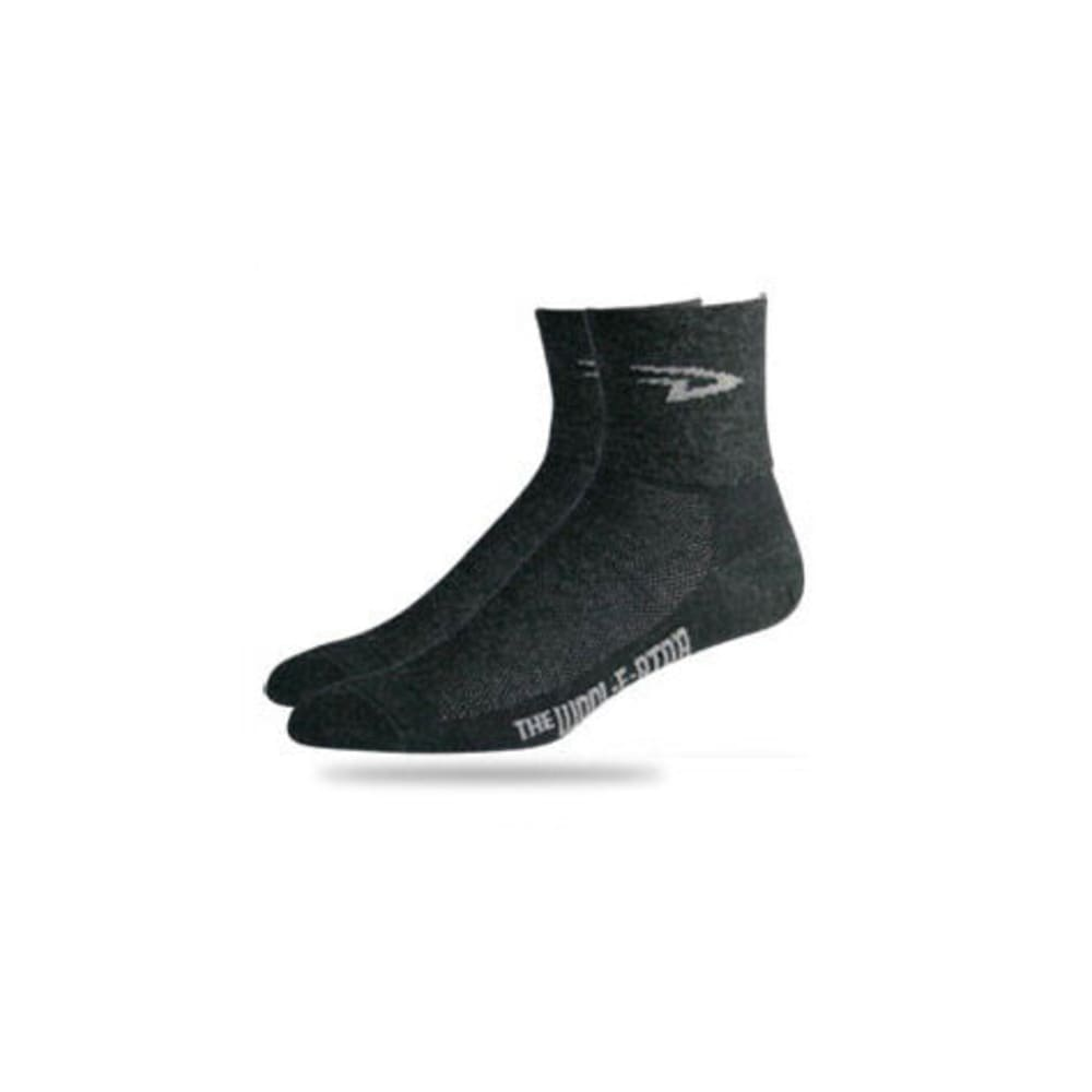 DEFEET Men's Wooleator Bike Socks - CHARCOAL