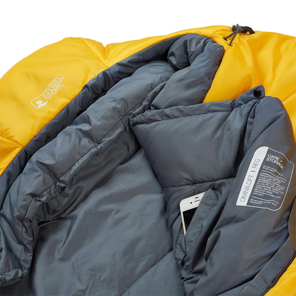 EMS Solstice 0° Sleeping Bag, Regular - GOLD FUSION