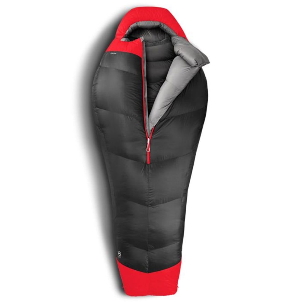 THE NORTH FACE Inferno -40° Sleeping Bag, Regular - ASPHALT GREY/RED