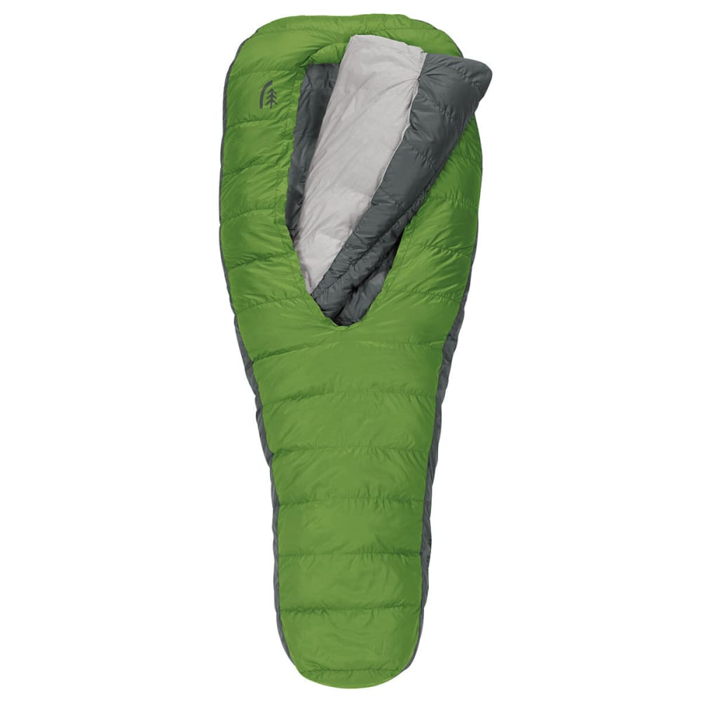 SIERRA DESIGNS 2-Season Backcountry Bed 600 Sleeping Bag, Long - PIQUANT GREEN