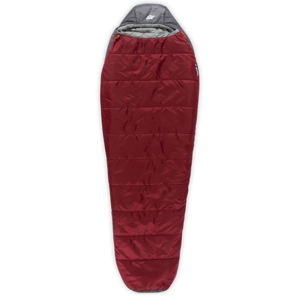 Ems Solstice 20 Deg Sleeping Bag Junior Grateful Red Cement
