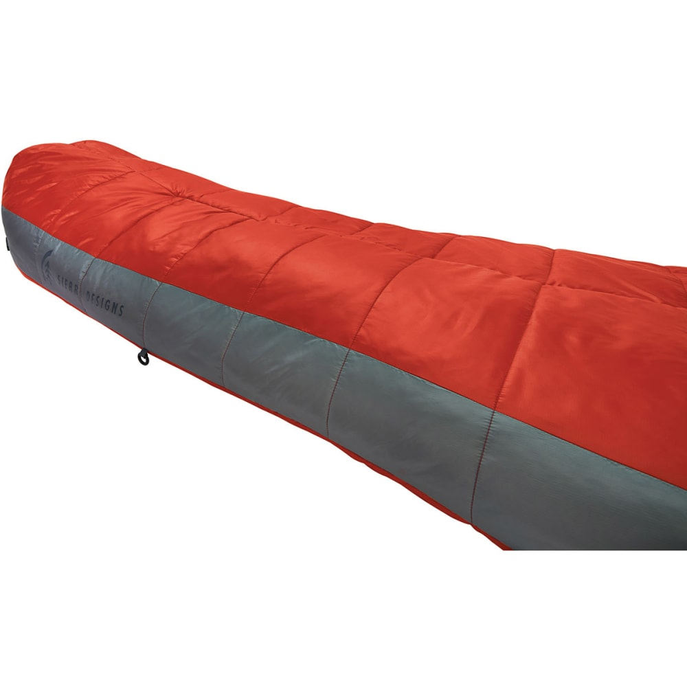 SIERRA DESIGNS Mobile Mummy 1.5 Season SYN Sleeping Bag, Long - POMPEIAN RED