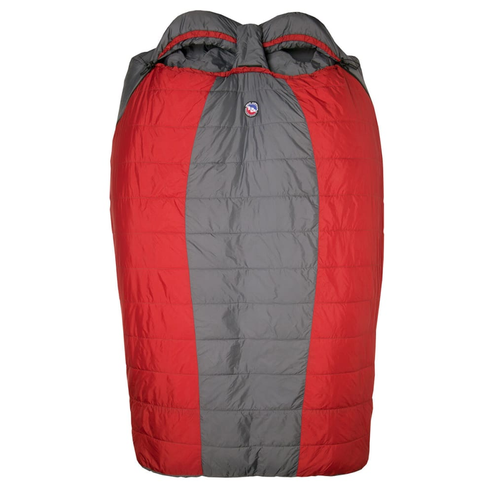 BIG AGNES Big Creek 30 Sleeping Bag - GREY/RED