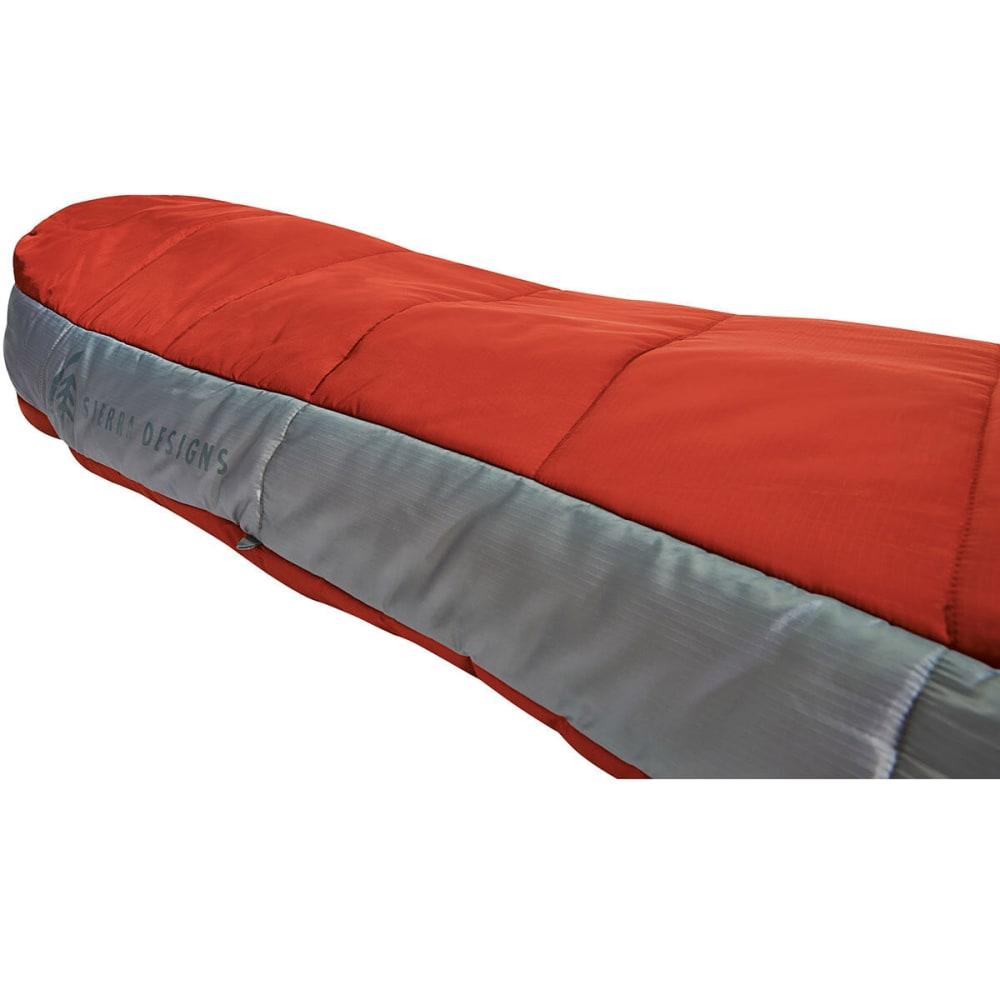 SIERRA DESIGNS 1.5 Season Backcountry Bed SYN Sleeping Bag, Long - POMPEIAN RED