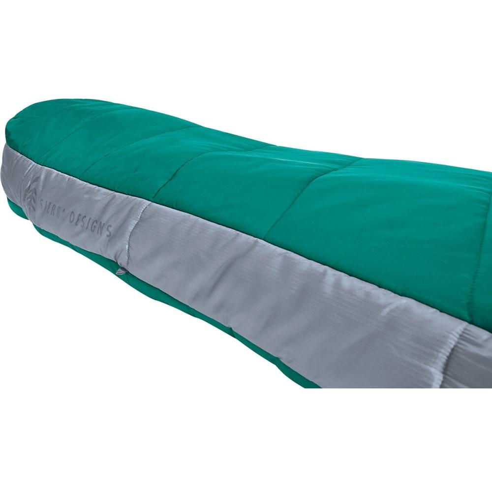 SIERRA DESIGNS Women's 1.5 Season Backcountry Bed SYN Sleeping Bag, Regular - POOL GREEN