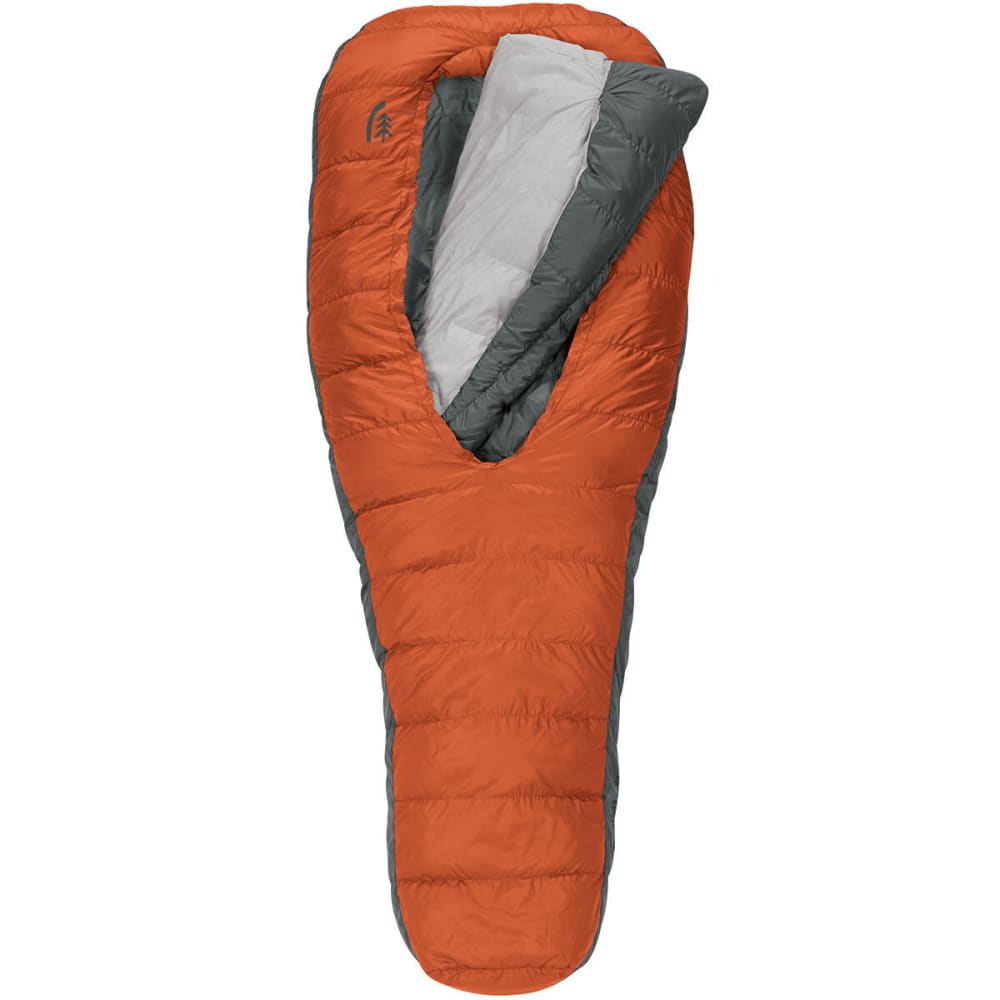 SIERRA DESIGNS Backcountry Bed 600 2 Season Sleeping Bag, Long - RED CLAY