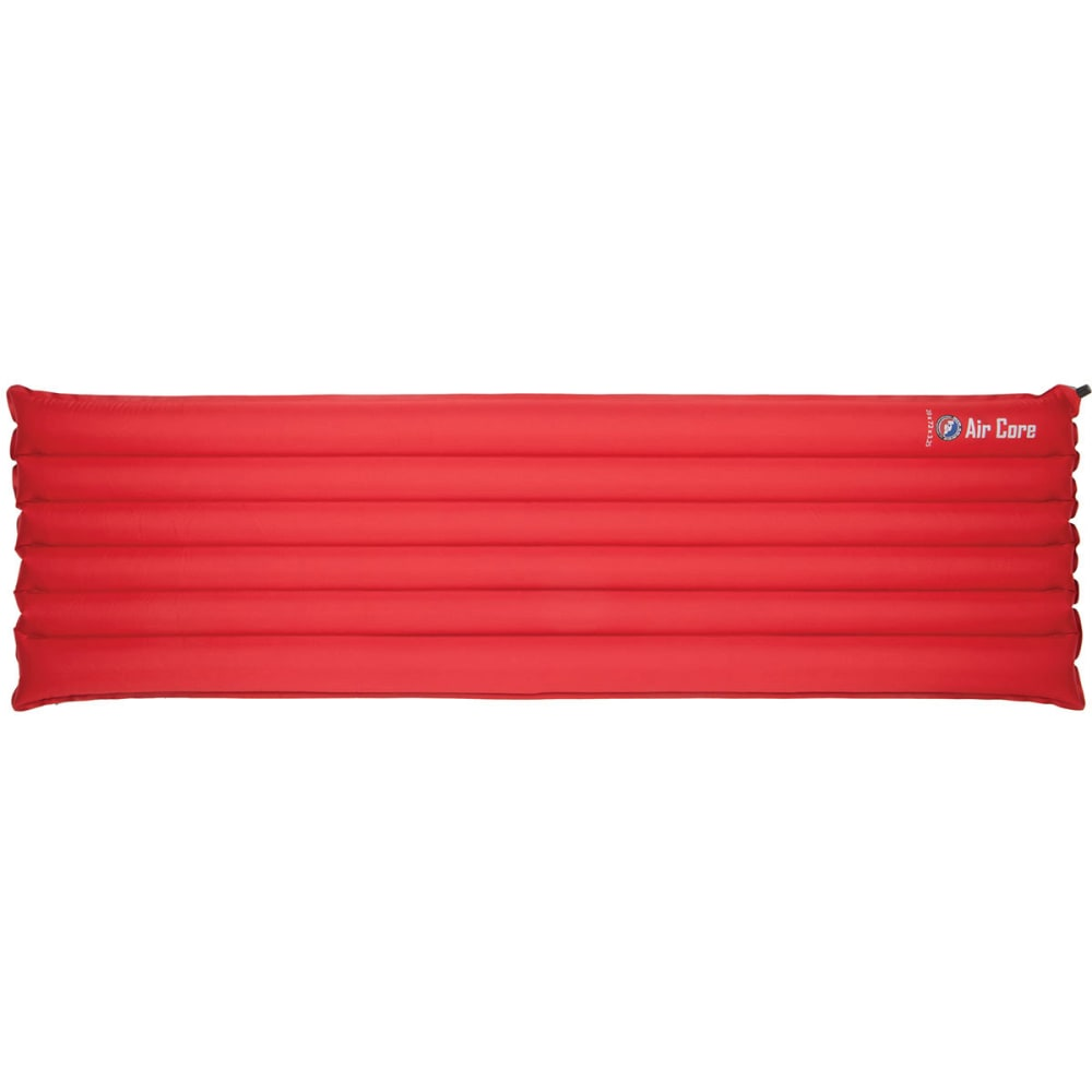 BIG AGNES Air Core Rectangular Sleeping Pad, Long - RED/GREY