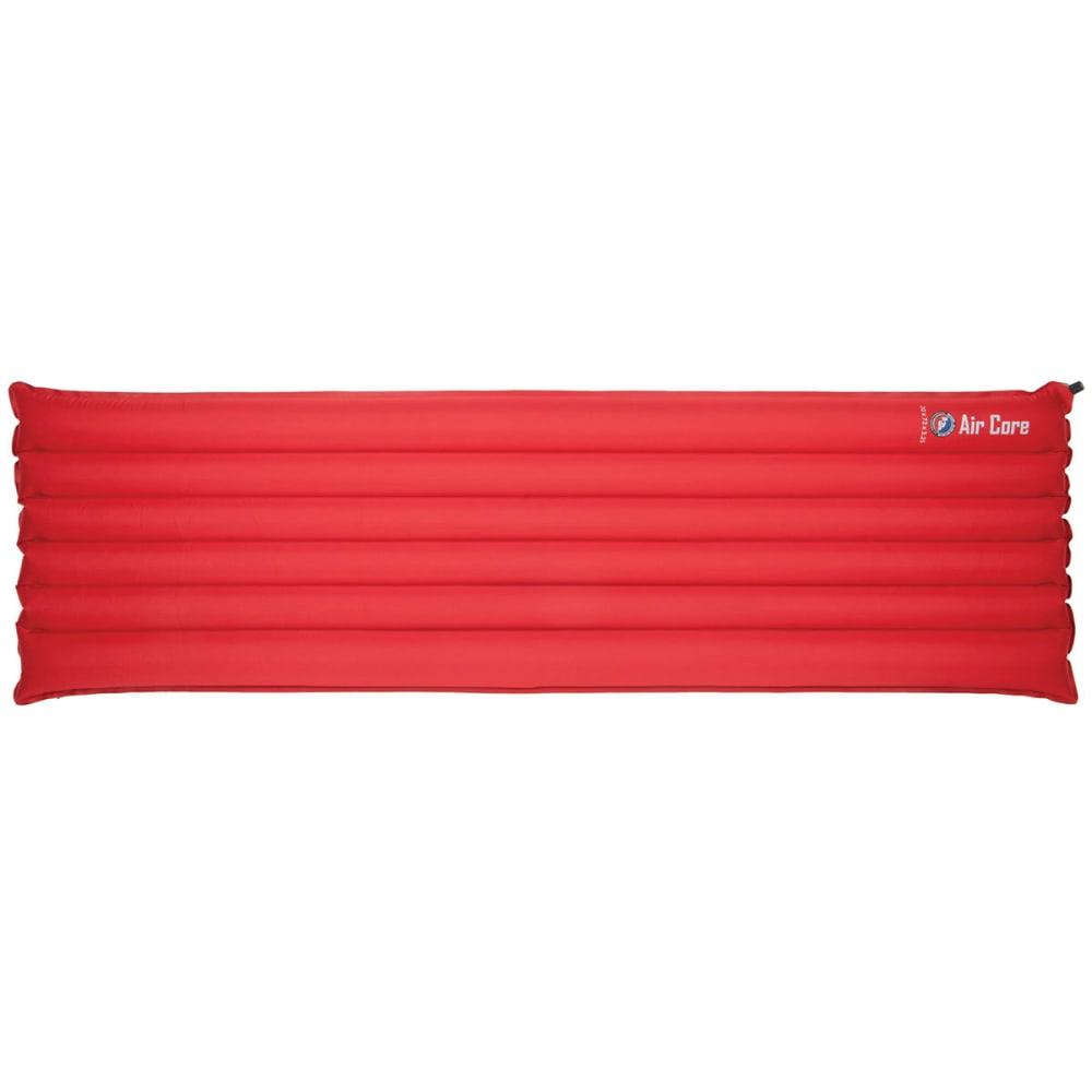 BIG AGNES Air Core Rectangular Sleeping Pad, Regular - RED/GREY