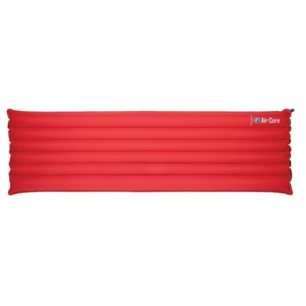 BIG AGNES Air Core Rectangular Sleeping Pad, Petite - RED/GREY