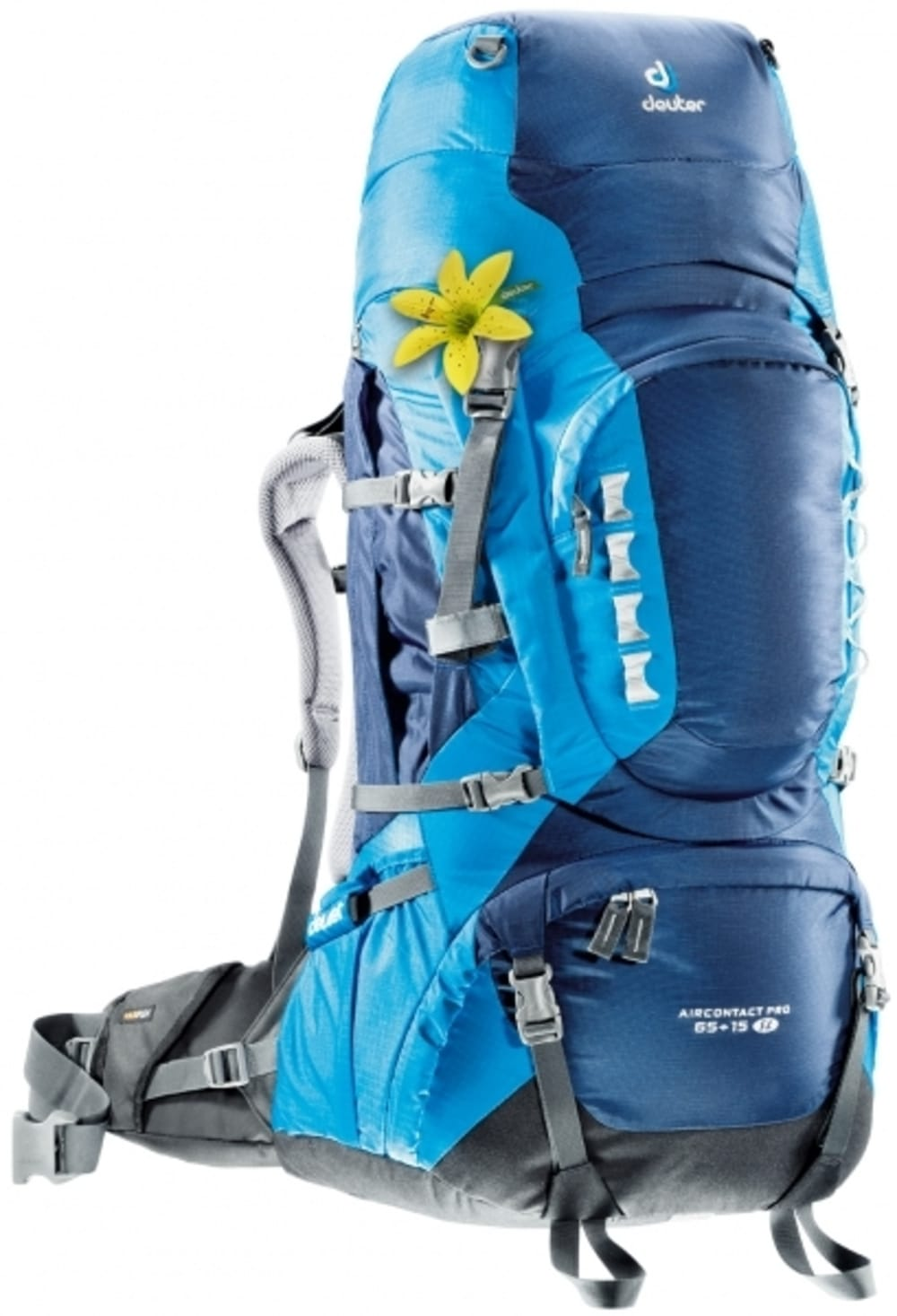 DEUTER Women's Aircontact Pro 65+15 SL Backpack - MIDNIGHT/TURQUOISE