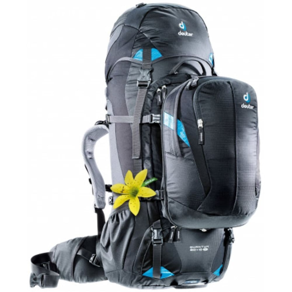 DEUTER Women's Quantum 60 + 10 SL Conversion Pack - BLACK/TURQUOISE/GREE