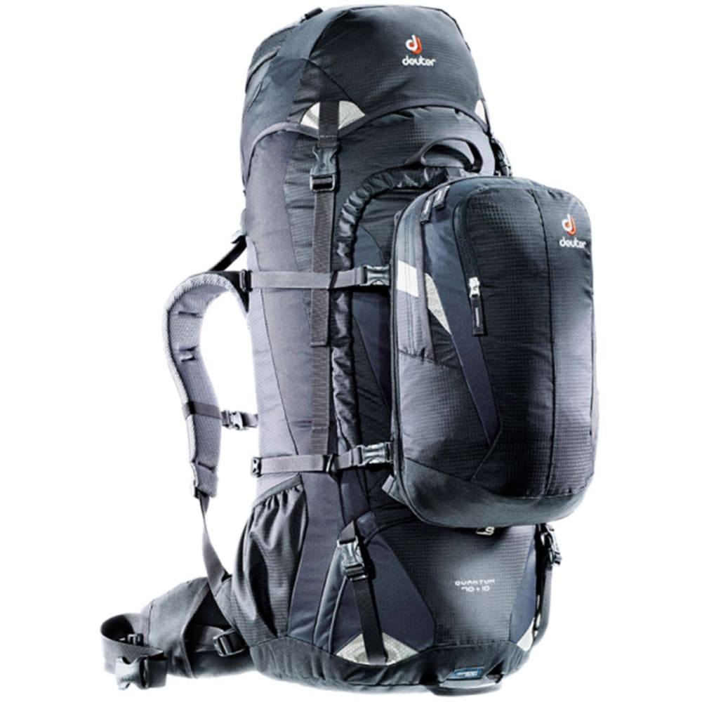 DEUTER Quantum 70+10 Backpack - BLACK/SILVER