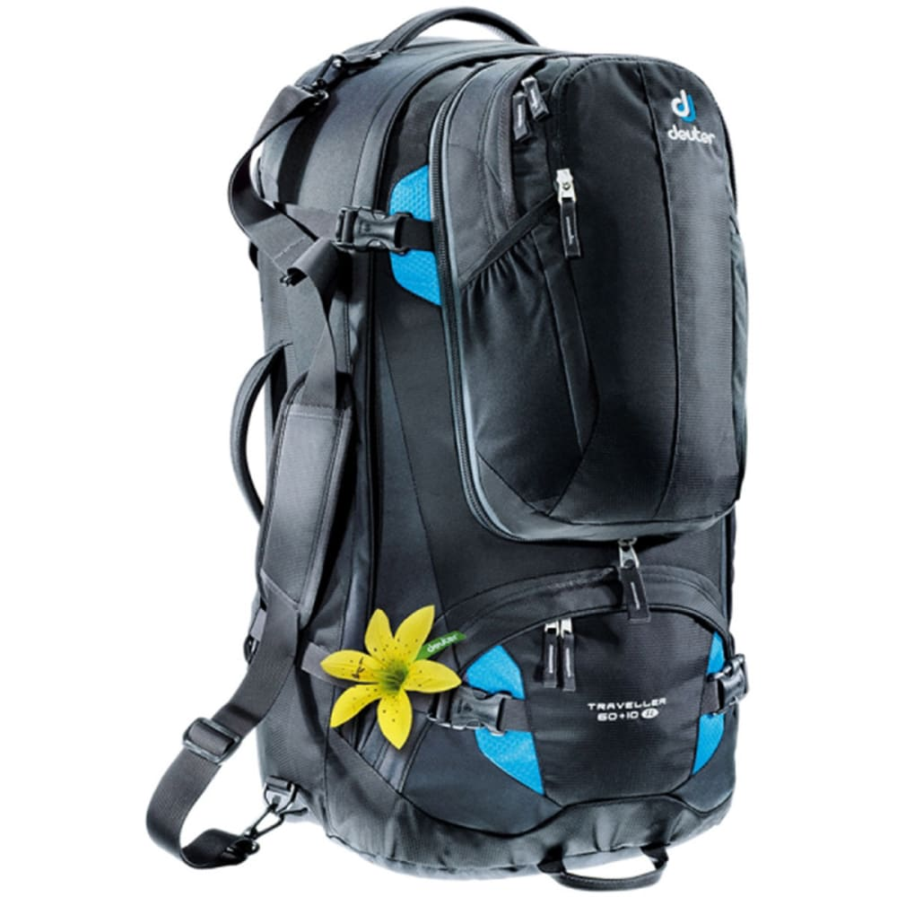DEUTER Women's Traveler 60 + 10 SL Conversion Bag - BLACK/TURQUOISE
