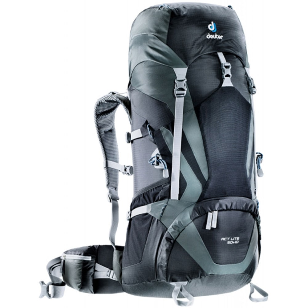 DEUTER ACT Lite 50 + 10 Backpack - BLACK/GRANITE