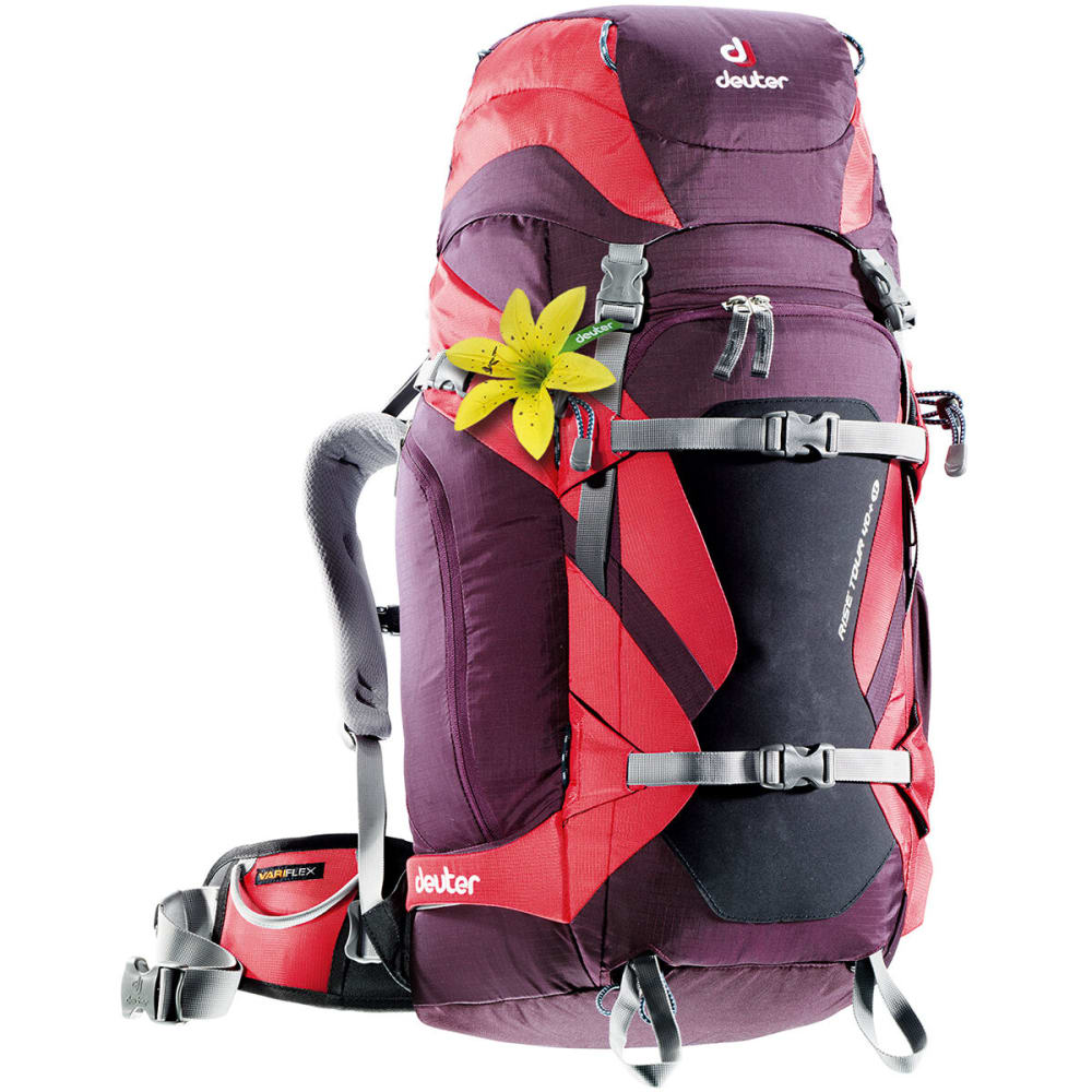 DEUTER Rise Tour 40+ SL Backpack - AUBERGINE/FIRE