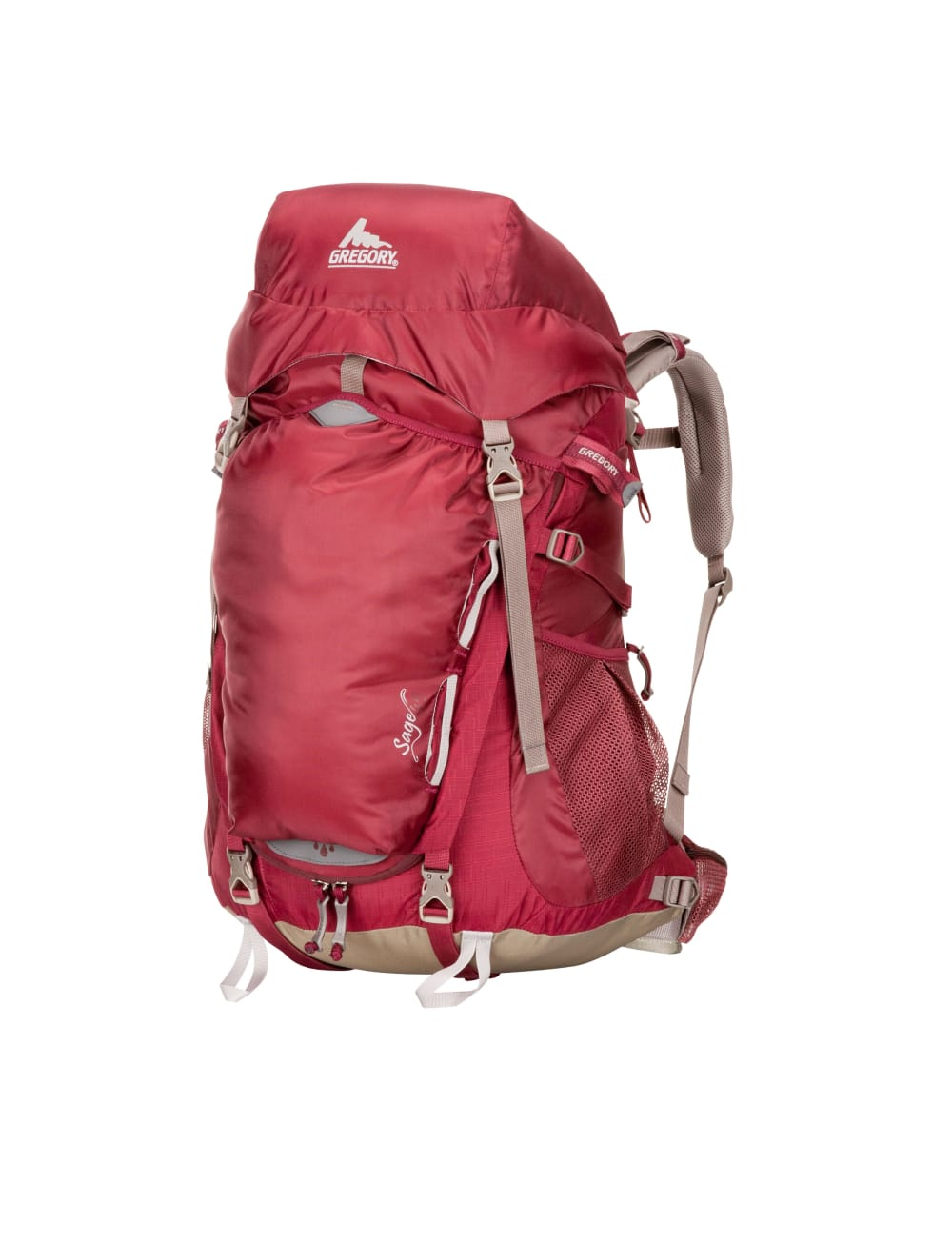GREGORY Women's Sage 45 Backpack - ROSEWOOD RED