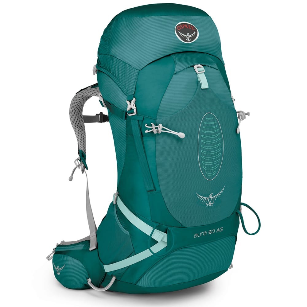 OSPREY Women's Aura AG 50 Backpack - RAINFOREST GREEN