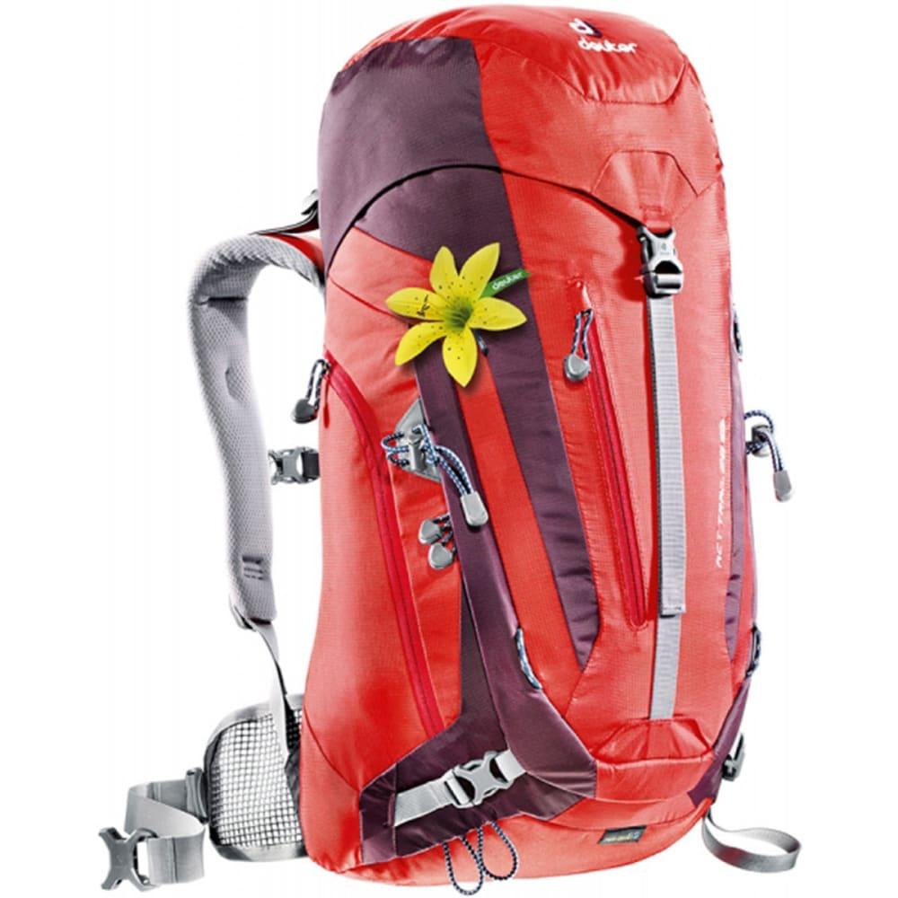 DEUTER Women's ACT Trail 28 SL Backpack - FIRE/AUBERGINE