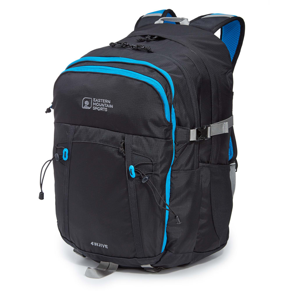 EMS® 4WJIVE Daypack  - BLACK/METHYL BLUE