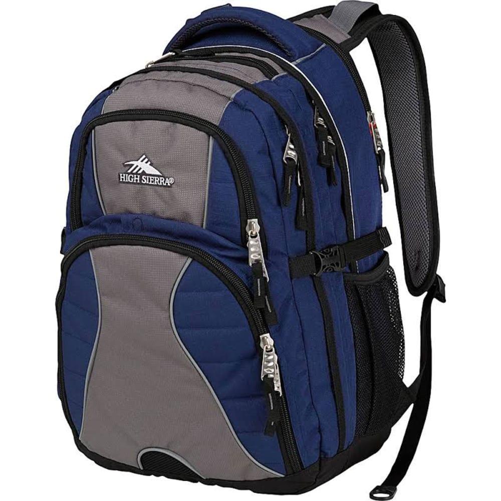 High Sierra Swerve Backpack - NVY/FLM TM