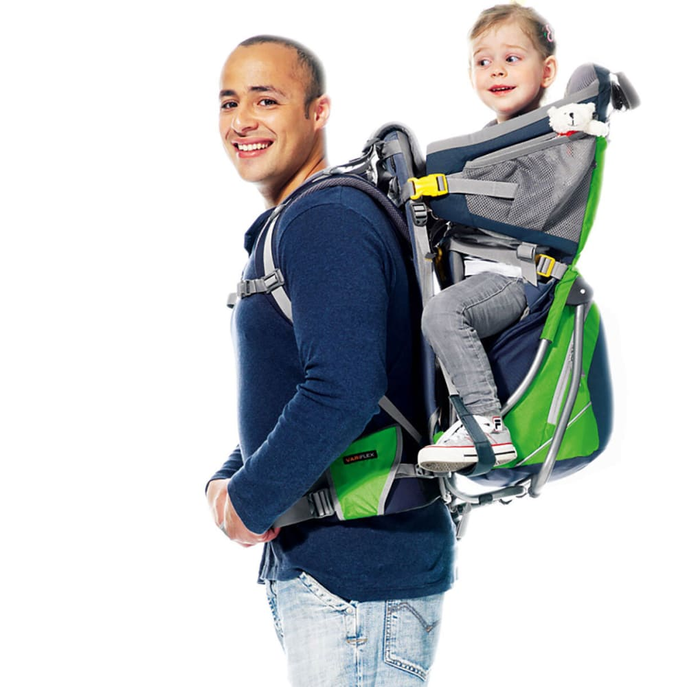 DEUTER Kid Comfort Air Child Carrier - GRANITE/EMERALD