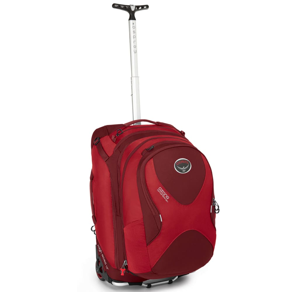 OSPREY Ozone Convertible Wheeled Luggage, 22 in. - HOODOO RED