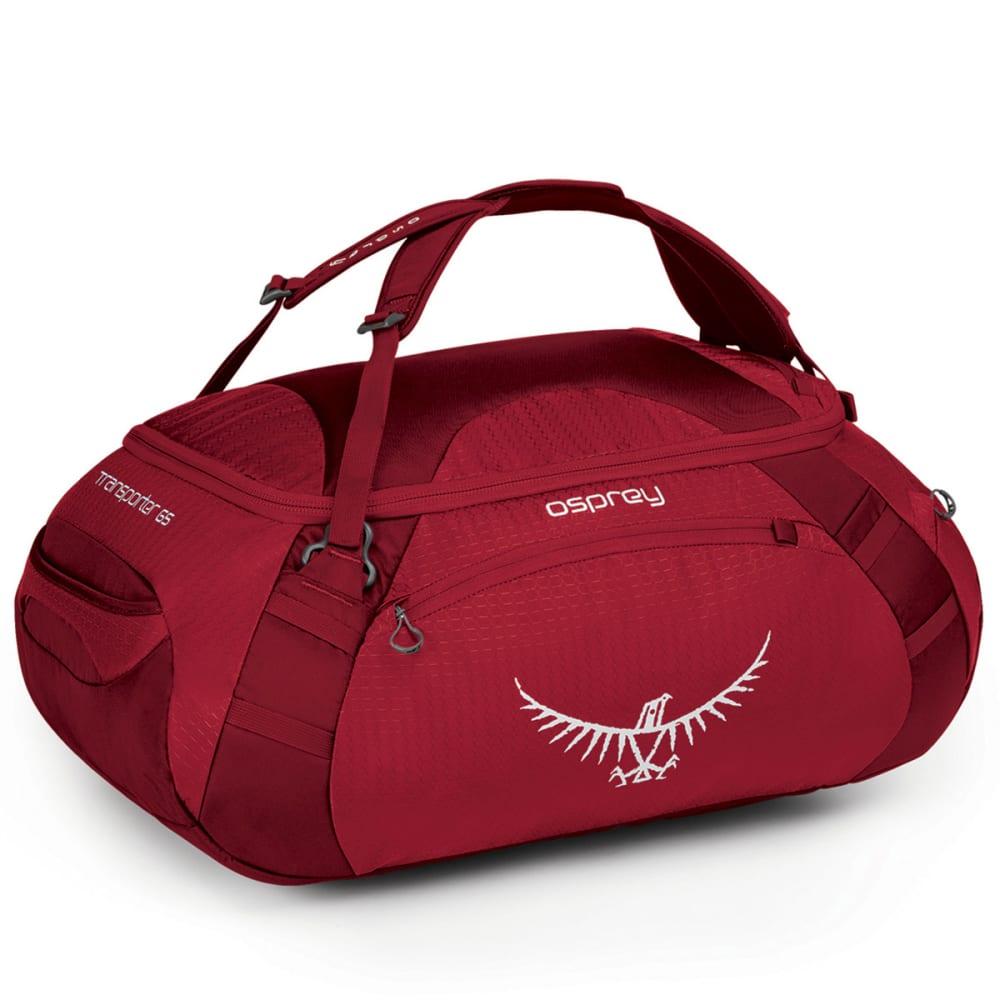 OSPREY Transporter 65 Duffel Bag, Hoodoo Red - HOODOO RED