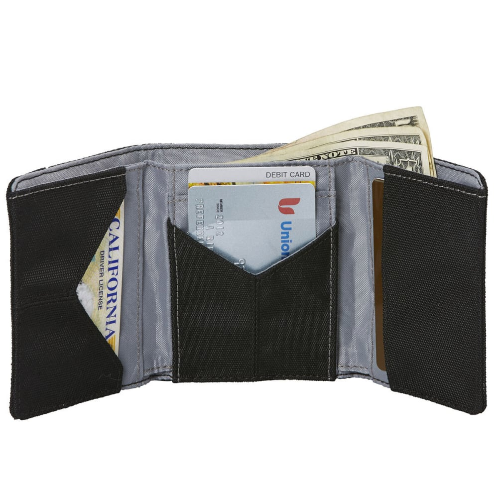 EAGLE CREEK RFID Tri-Fold Wallet - BLACK