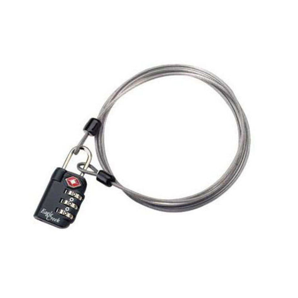 EAGLE CREEK TSA 3-Dial Lock and Cable  - GRAPHITE