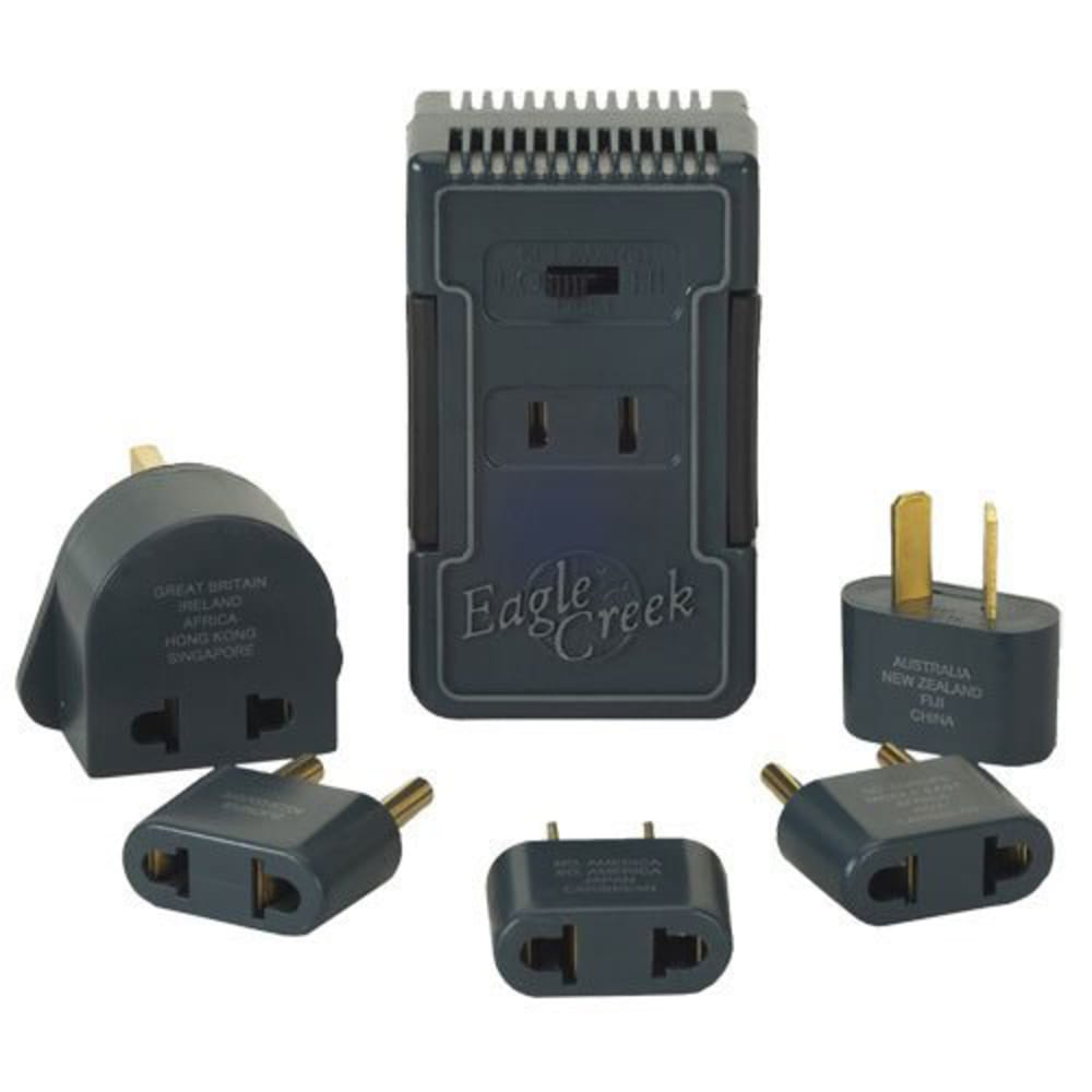 EAGLE CREEK Dual-Wattage Converter Set - CHARCOAL