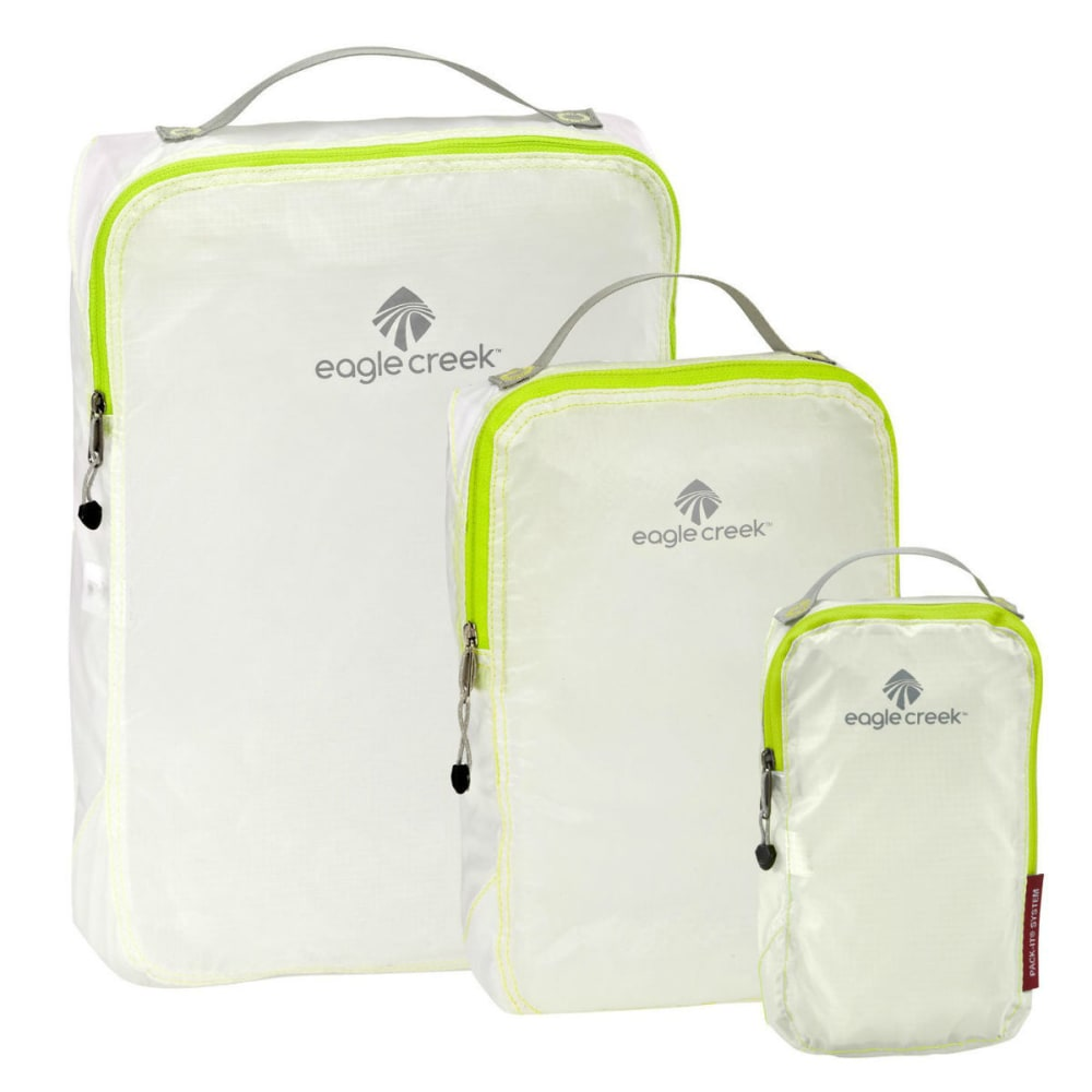 EAGLE CREEK Pack-It Specter Cube Set - WHITE/STROBE GREEN