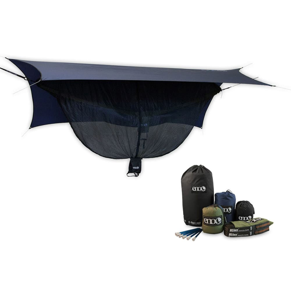 ENO OneLink Sleep System with DoubleNest Hammock  - NAVY/OLIVE