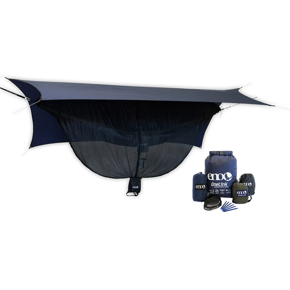 ENO OneLink Sleep System with DoubleNest Hammock  - NAVY/OLIVE DH001