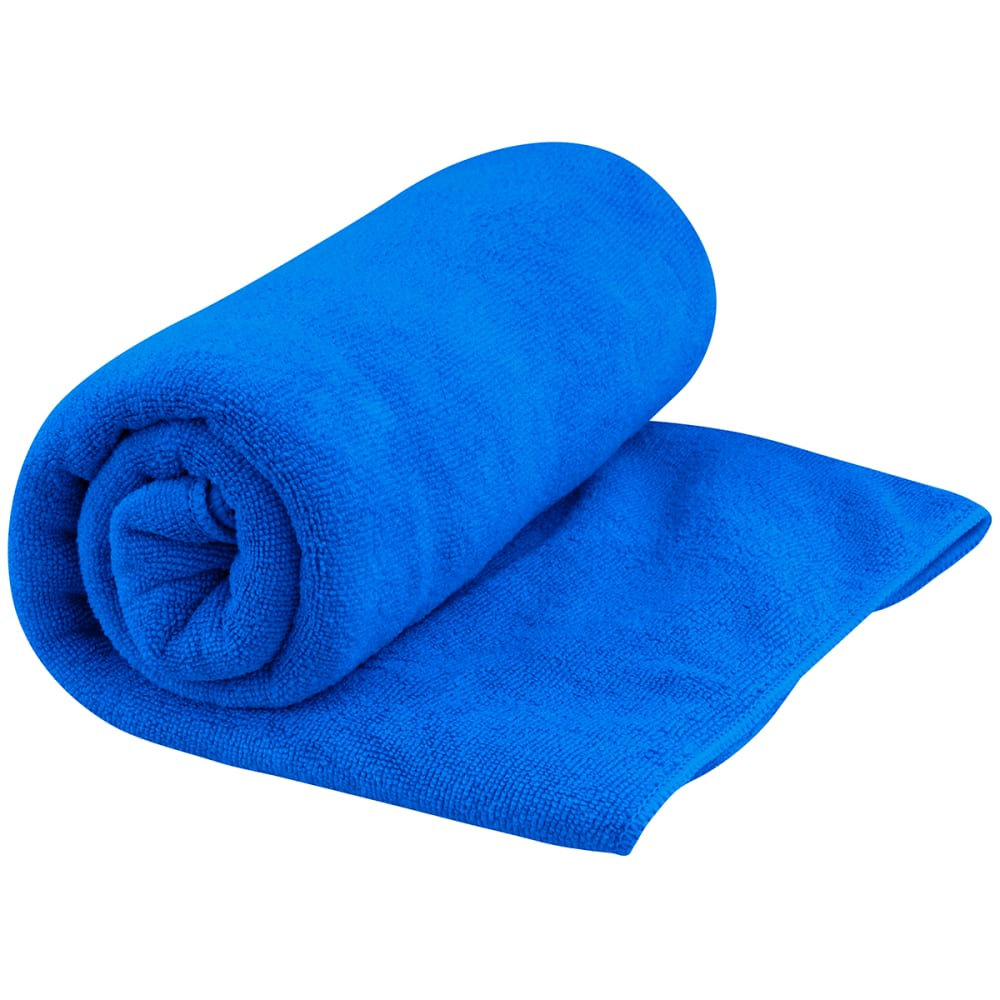 Absorbent and quick drying, the Tek Towel is ideal for travel and all outdoor activities like traveling, camping, boating, taking to the gym, pool or beach or drying the dogs off after a swim. Large measures 48 x 24 inches. Unique micro-fiber fabric has a plush terrycloth feel. Terrycloth texture creates greater surface area for greater moisture absorbency. Faster drying than cotton towels. Machine washable. Comes in a handy mesh/nylon zippered pouch