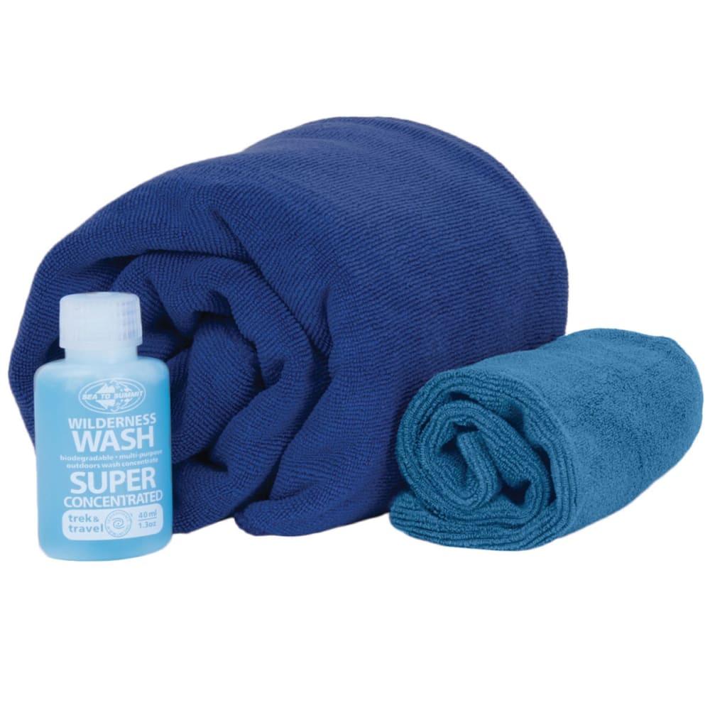 SEA TO SUMMIT Tek Towel Wash Kit, Eucalyptus - COBALT