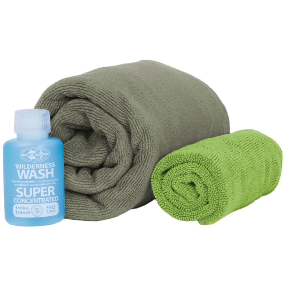 SEA TO SUMMIT Tek Towel Wash Kit - EUCALYPTUS