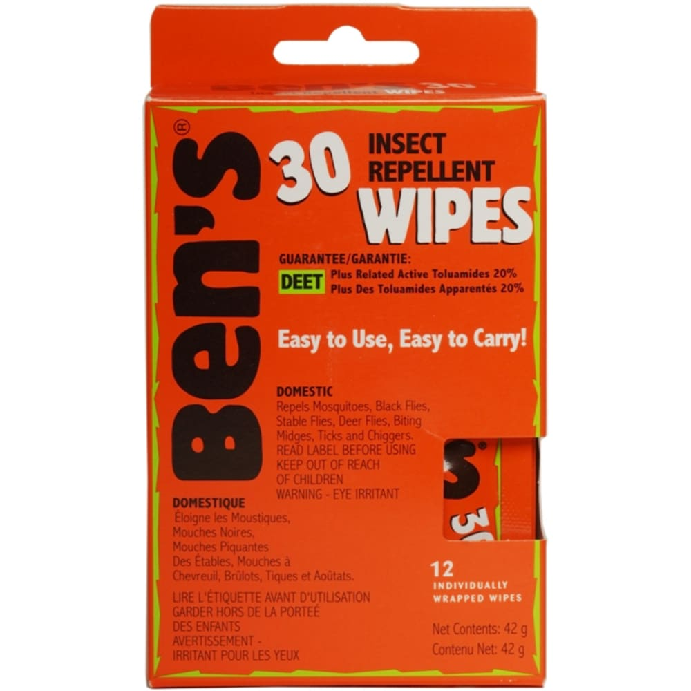 AMK Ben's 30 Insect Repellent Wipes - NONE