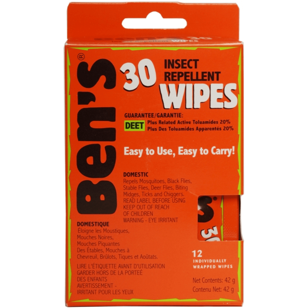 AMK Ben's 30 Insect Repellent Wipes NO SIZE