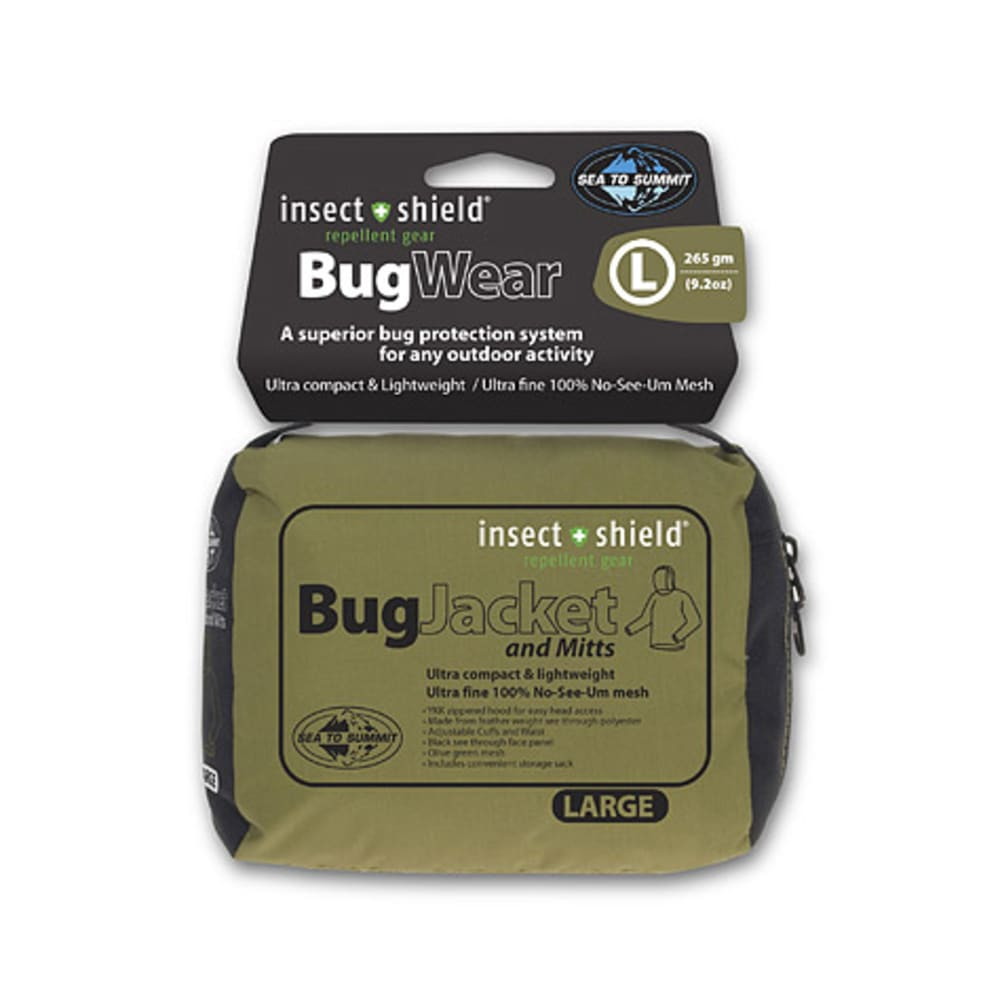 SEA TO SUMMIT Bug Jacket and Mitts + Insect Shield - OLIVE
