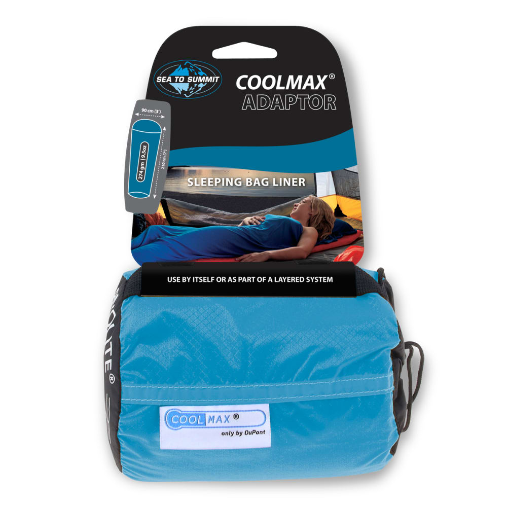 SEA TO SUMMIT Adaptor Coolmax Sleeping Bag Liner - BLUE
