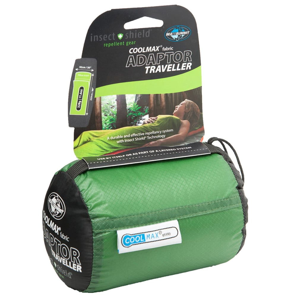 SEA TO SUMMIT CoolMax Adaptor Traveller Liner with Insect Shield - ASSORTED