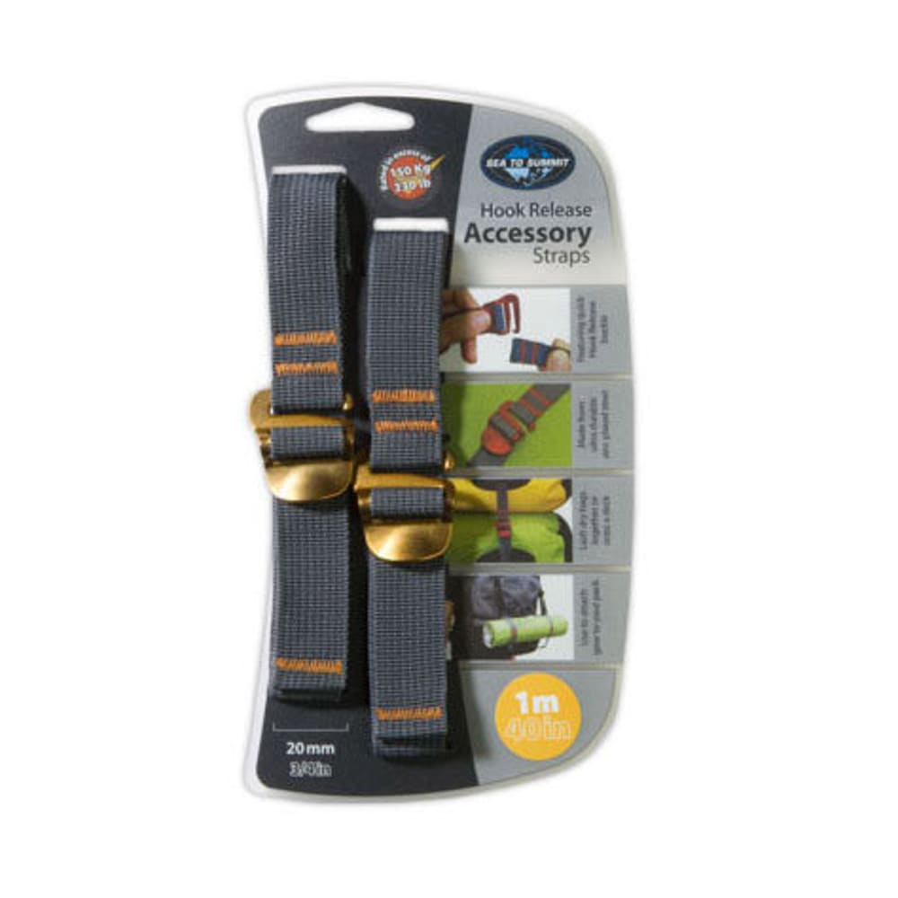 SEA TO SUMMIT 20 mm Accessory Straps with Hook 1 m - YELLOW