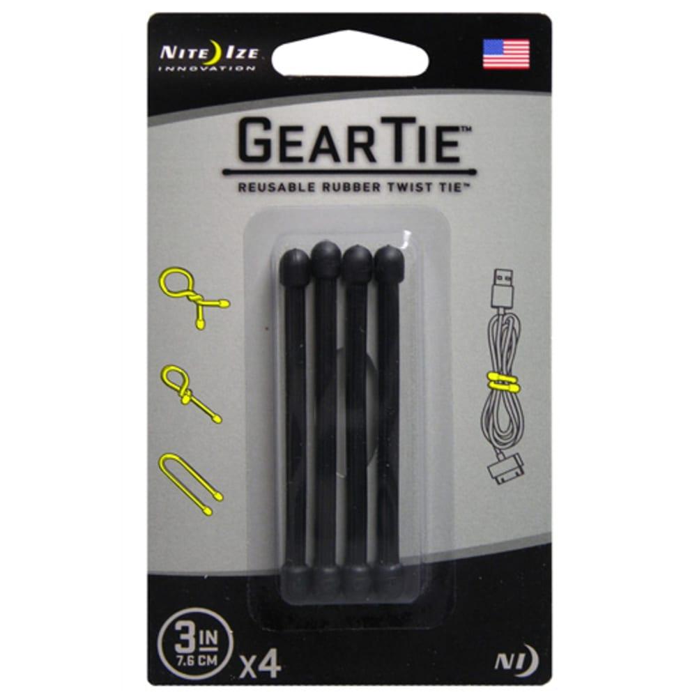"NITE IZE Gear Tie, 3"" - BLACK - 01"