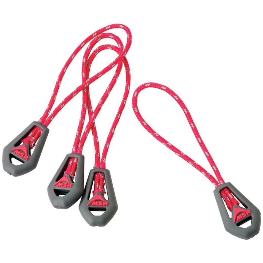 MSR Universal Reflective Zipper Pulls, 4-Pack - NONE