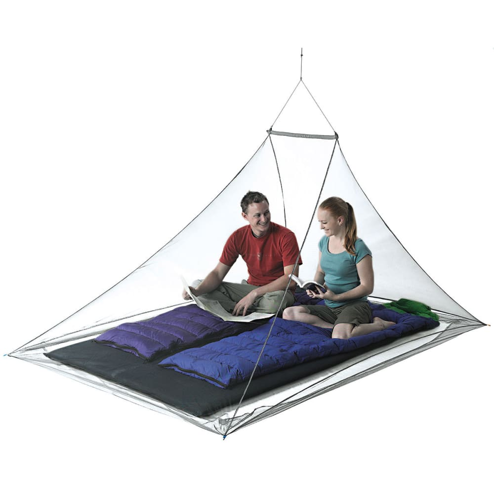 SEA TO SUMMIT Double Nano Mosquito Pyramid Net with Insect Shield - NONE