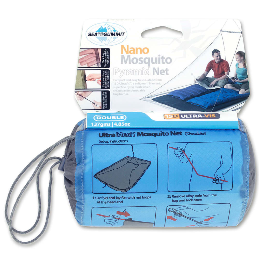 SEA TO SUMMIT Double Nano Mosquito Pyramid Net - NONE